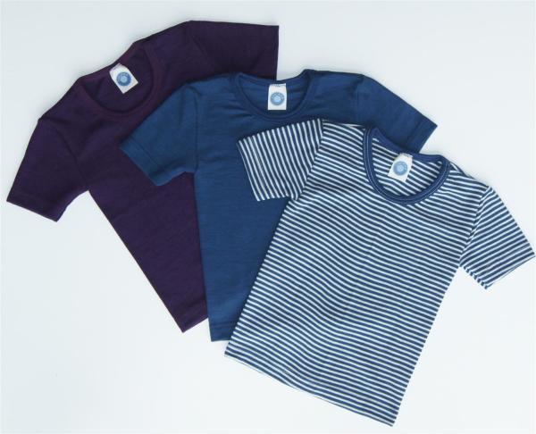 Cosilana Kinder Unterhemd/T-Shirt, Schurwolle, Seide, versch. Größen und Farben