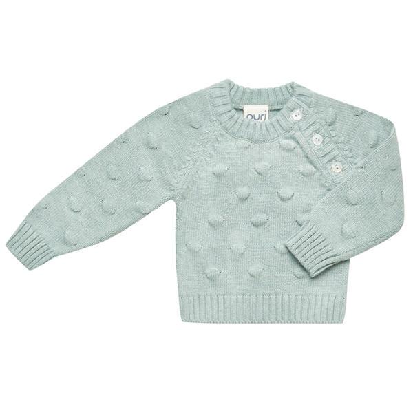 Puri Organic Kinder Pullover, Seagreen, versch Größen