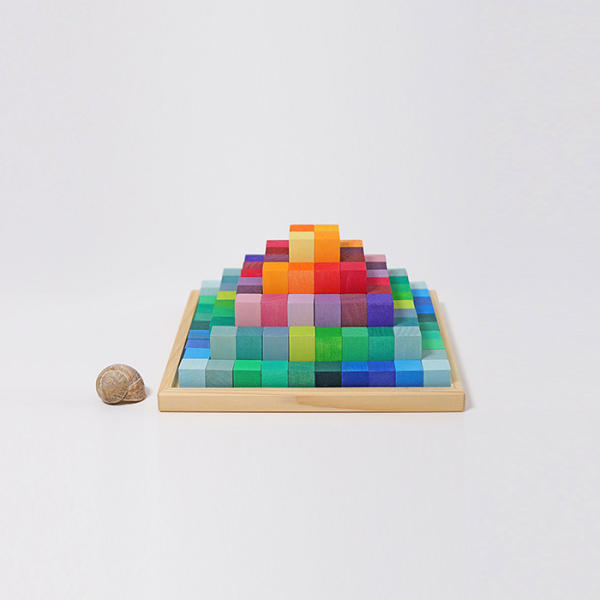 Grimms Kleine Stufenpyramide aus Naturholz, Waldorfpädagogik