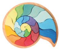 Grimms Bauspiel Ammonit aus Naturholz, Waldorfpädagogik