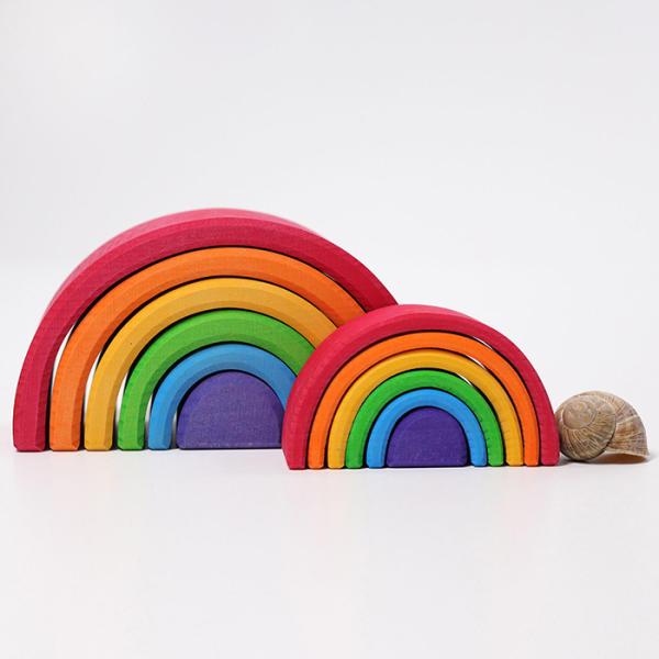 Grimms kleiner Regenbogen aus Naturholz, Waldorfpädagogik