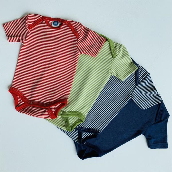 Cosilana Baby Body kurzarm 70% Wolle (kbT) 30% Seide, in versch. Farben und Größen