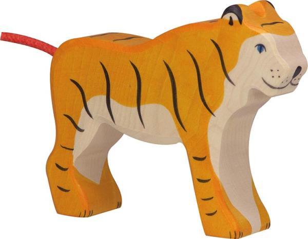 Holztiger stehender Tiger