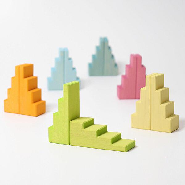 Grimms Treppendächer Pastell