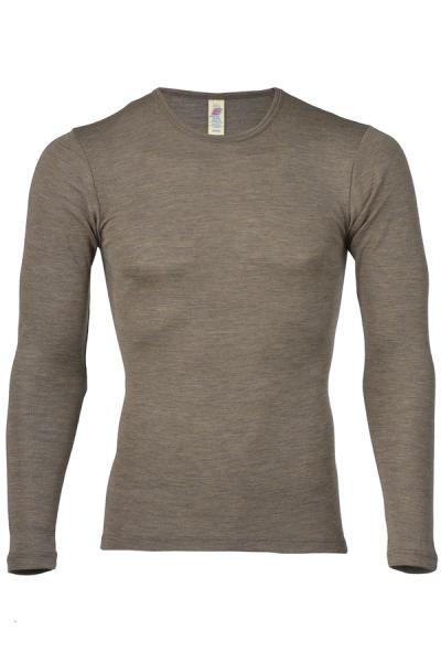 Engel Natur Herren Shirt aus Wolle/Seide, langarm