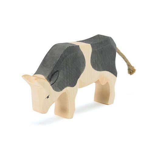 Ostheimer Kuh schwarz, fressend