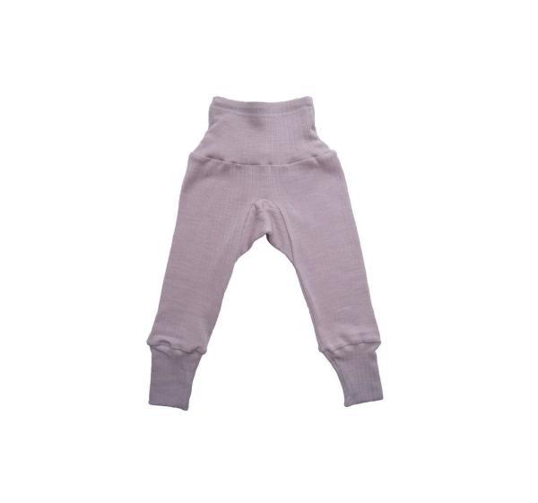 Cosilana Kinder Hose mit Nabelbund, Größe  62/68, Uni Pink meliert
